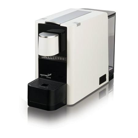 Espressotoria Caprista White Espresso Coffee Pod Machine, 1 Each