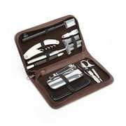 Royce Leather Executive Travel Grooming Genuine Leather Toiletry Set