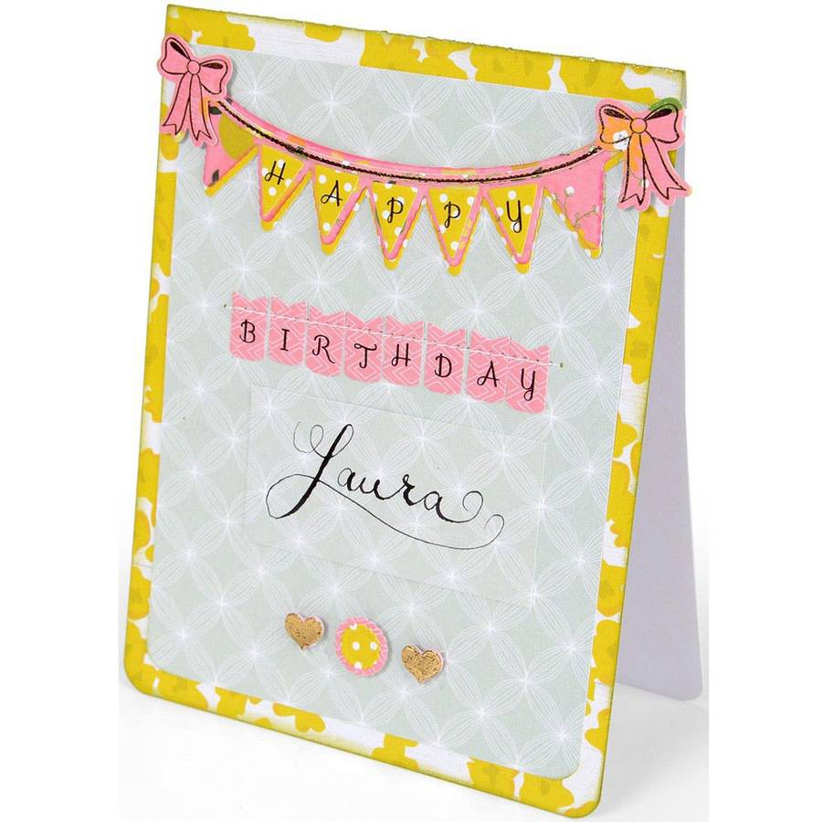 Sizzix Clear Stamps, By Rachael Bright-Banners & Alphabet