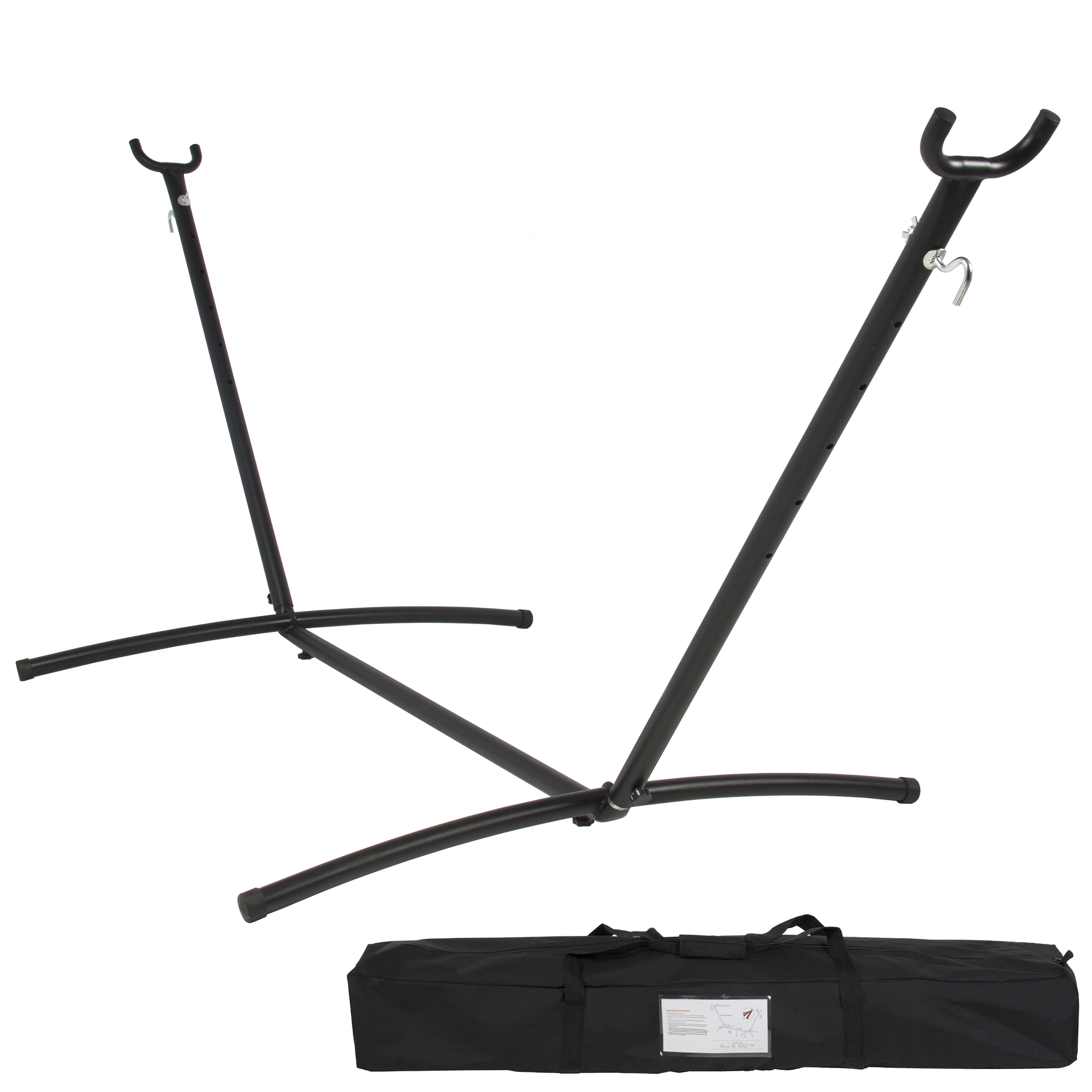 Best Choice Products 9ft Portable Steel Hammock Stand W/ Carrying Case    Black   Walmart.com