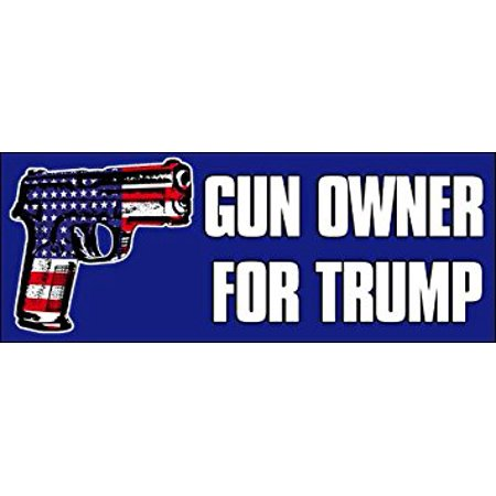 GUN OWNER for Trump Sticker Decal(2nd usa flag 2020 gop) Size: 3 x 8 inch ()