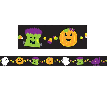 HALLOWEEN STRAIGHT BORDER - Halloween Document Borders
