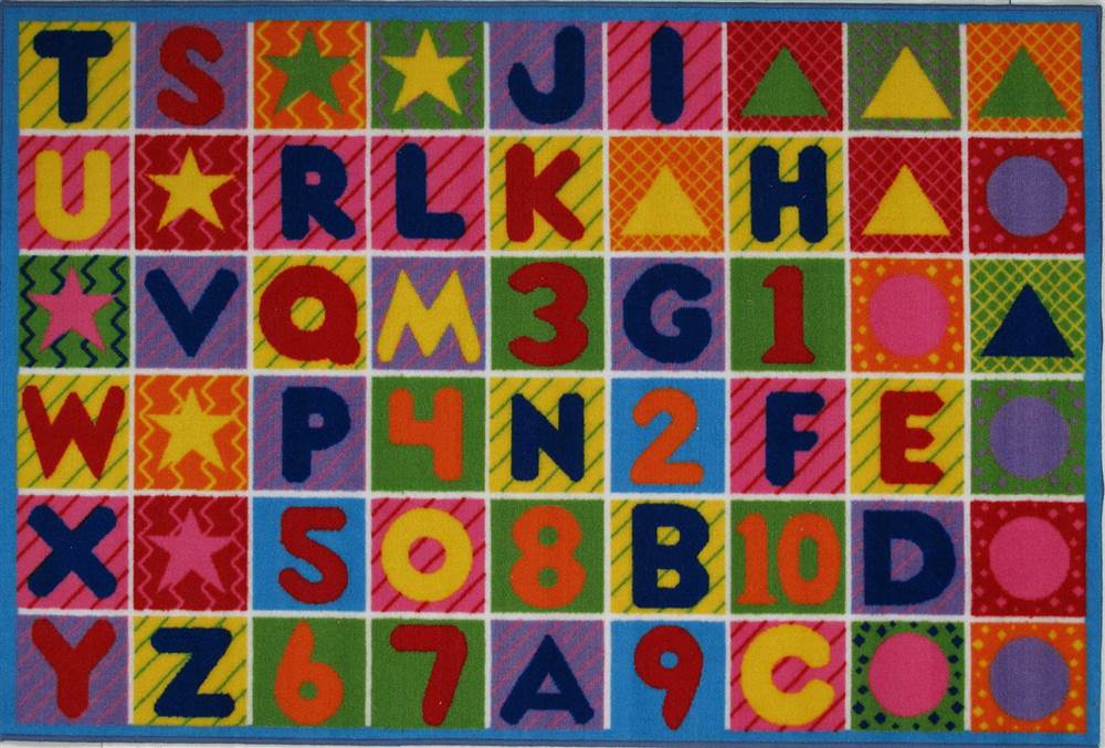 Fun Rugs Numbers And Letters Kids Rug Walmart Com Walmart Com