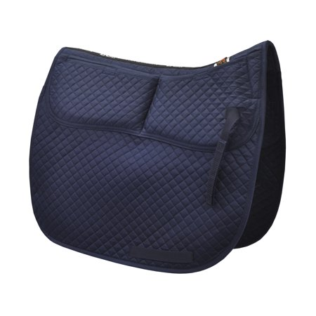 ECP Cotton Correction Dressage Saddle Pad - Memory Foam Pockets Black Dressage Saddle Pads