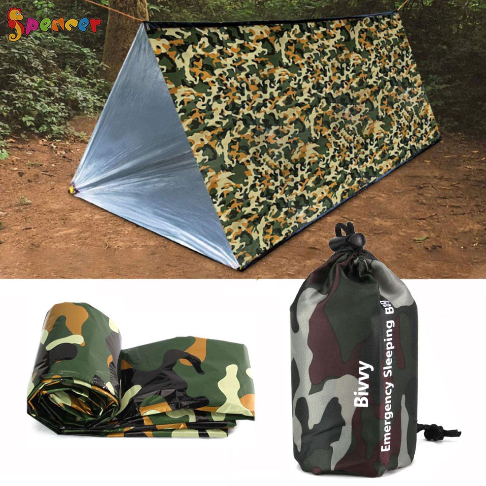 PE Emergency Sleeping Bag Warm Waterproof Survival Camping Travel Bag Durable