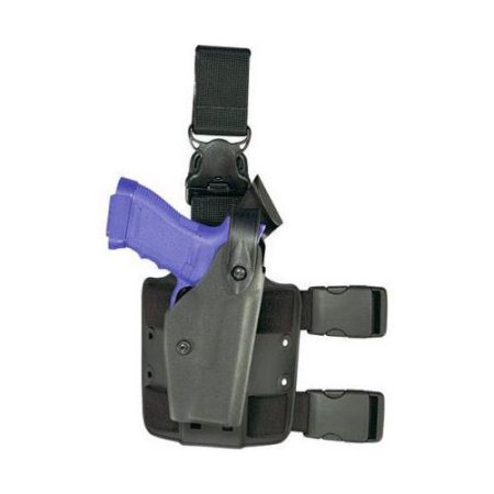 - Safariland 6005 SLS Tactical Holster w/ Quick Release Leg Harness - STX FDE Brow