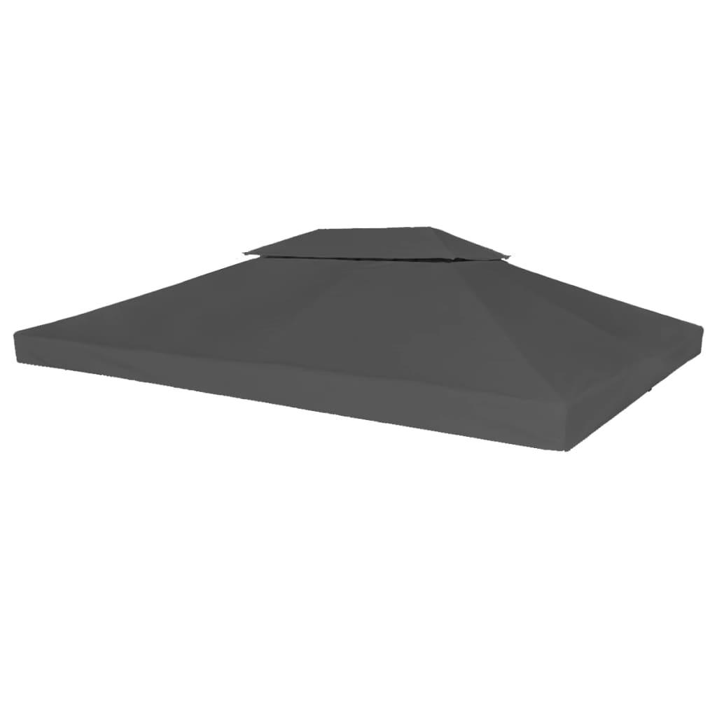 """Gazebo Top Cover 0.68lb//m² 157.5/""""x118.1/"""" Gray"""