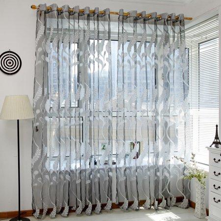 Voile Curtain Fabric (Wheat Sheer Curtain Tulle Window Treatment Voile Drape Valance 1 Panel Fabric)