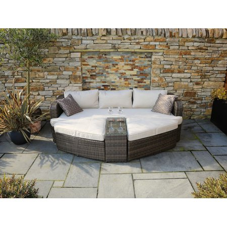 Direct Wicker Venters Chaise Lounge Set With Cushions And