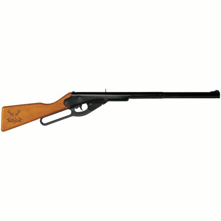 Black Sniper Rifle (Daisy Buck BB Youth Lever Action Air long gun, 177 Cal, BB, Wood Stock Blue)
