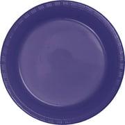 Purple Plastic Plates, 20-Pack