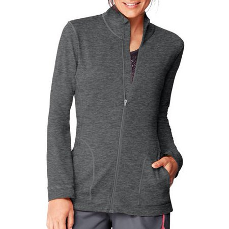 2 Full Zip Fleece Jacket (Hanes Sport Women's Performance Fleece Full Zip)