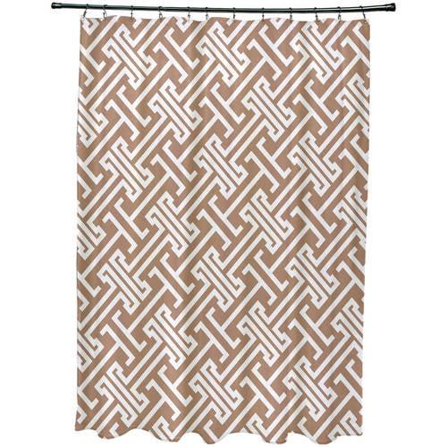 "Simply Daisy 71"" x 74"" Leeward Key Geometric Print Shower Curtain"
