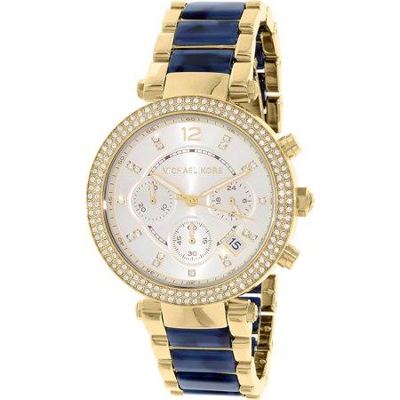 4502d74afa296 Michael Kors - Women s Parker MK6238 Gold Stainless-Steel Quartz Fashion  Watch - Walmart.com