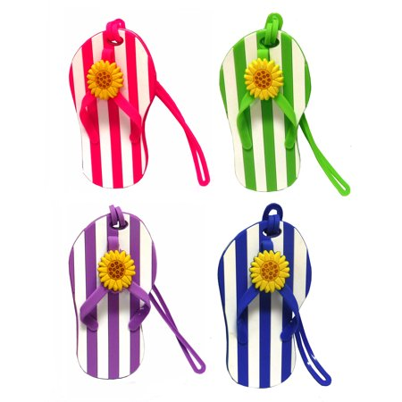 Flip Flop luggage Tags with striped design from gifts by fashioncraft Flip Flop luggage Tags with striped design from gifts by fashioncraft
