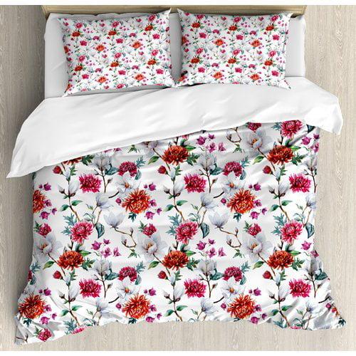 Ambesonne Flower Duvet Set