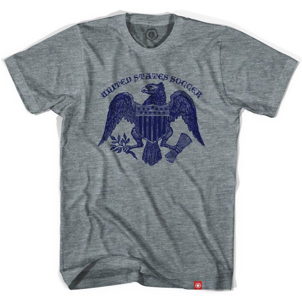 United States Soccer Eagle T-shirt Athletic Grey XX-Large
