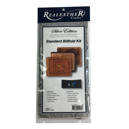 Realeather Silver Edition Standard Billfold Kit Leather Craft Wallet Kit