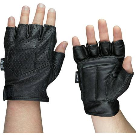 H2o Motorcycle Gloves - Fuel Helmets Fingerless Motorcycle Gloves, M