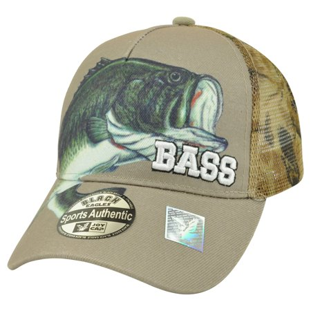 Outdoor sports bass mesh fishing fish camping camouflage for Fishing hats walmart