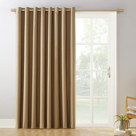 Sliding Door Applique - Sun Zero Conrad Extra-Wide Blackout Sliding Patio Door Curtain Panel