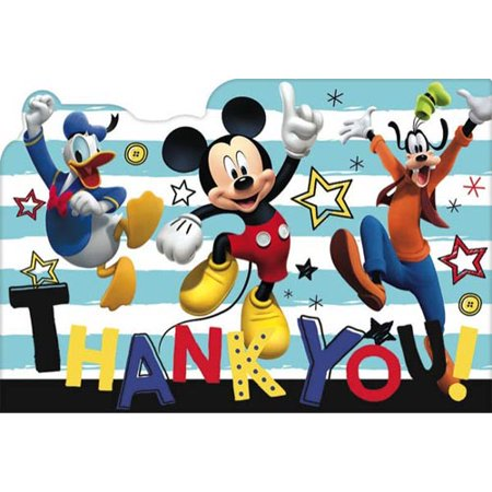 Mickey Mouse 'On the Go' Thank You Note Set w/ Envelopes (8ct)