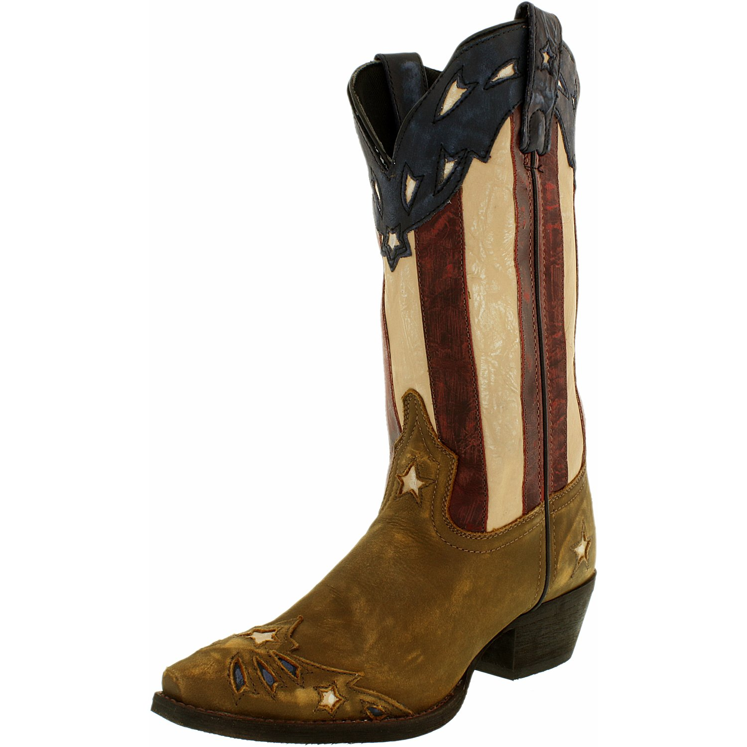 Laredo Women's Stars And Stripes Leather Mid-Calf Leather Boot by Laredo