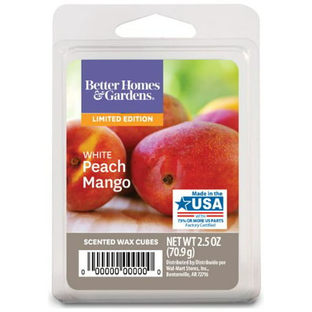 Better Homes & Gardens 2.5 oz White Peach Mango Scented Wax Melts, 1-Pack