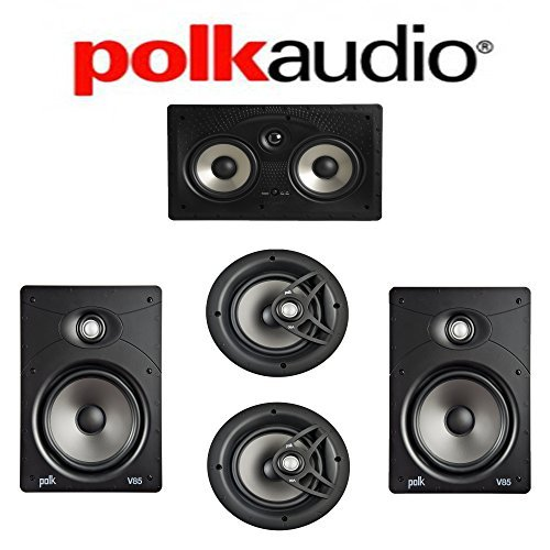 Polk Audio V85 Vanishing Series 5.0 In-Wall   In-Ceiling Home Theater System (V85 + V80 + 255C-RT) by Polk Audio