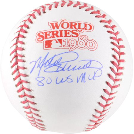 Autographed 2004 World Series Baseball - Mike Schmidt Philadelphia Phillies Autographed 1980 World Series Logo Baseball with