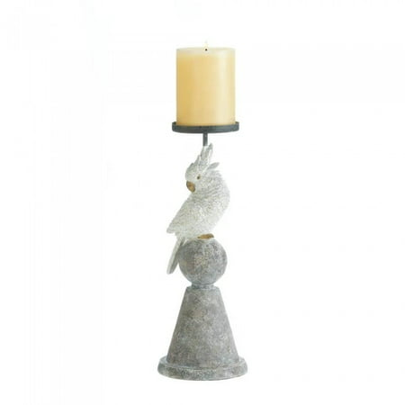 Tall Pillar Candle Holder, Large Decorative Polyresin Candle Holders Pillar (Sold by Case, Pack of 9)