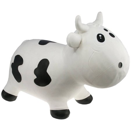 Kidzz Farm Jumping Animals Bouncy Animal Hopper Bella Milk Cow, White