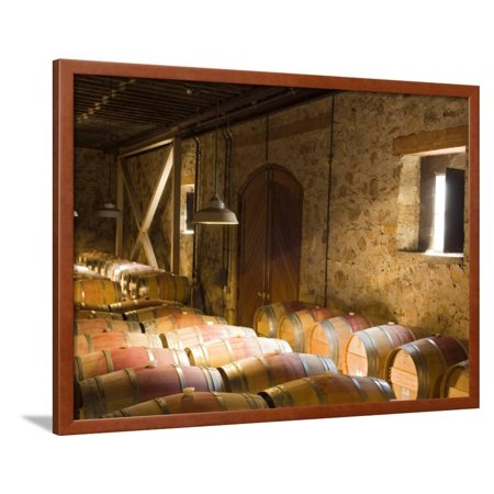 Window Light Streams Into Barrel Room at Hess Collection Winery, Napa Valley, California, USA Framed Print Wall Art By Janis Miglavs (Hess Winery)