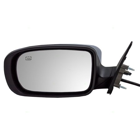 Drivers Power Side View Mirror Heated With Chrome Cover Replacement