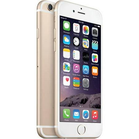 Straight Talk Apple iPhone 6 16GB 4G LTE Refurbished Prepaid Smartphone w  Bonus $45 30-Day Plan by