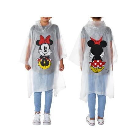Girls Minnie Mouse Rain Poncho Waterproof Outerwear