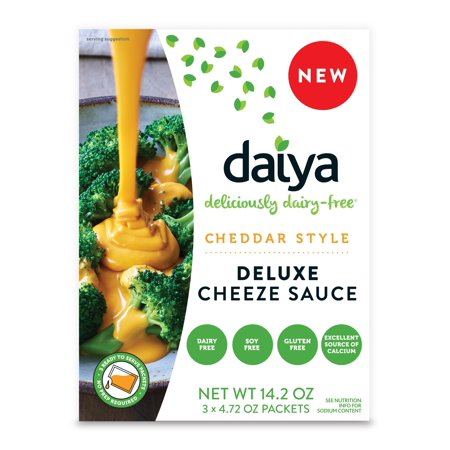 Daiya Cheddar Style Cheeze Sauce :: Plant-Based Macaroni & Cheese Sauce :: Vegan, Dairy Free, Gluten Free, Soy Free, Rich Cheesy Flavor :: Box Contains 3 Packets (2 Servings (Best Non Dairy Cheese)