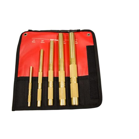 Brass Drift Punch Set - 5 Piece