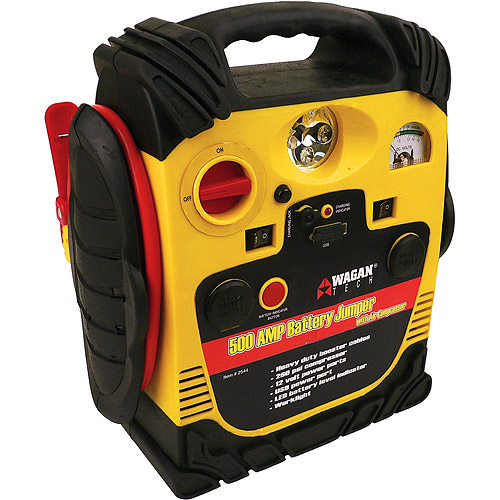 Wagan 500 Peak Amp Battery Jumpstarter with Air Compressor