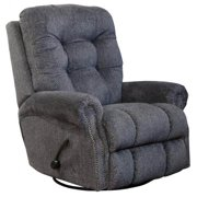 Swivel Glider Recliner in Pewter