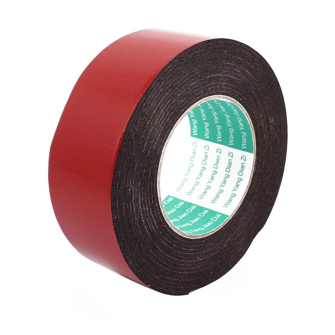 50mm x 2mm Car Self Adhesive Shock Resistant Foam Tape Red 5 Meters Length