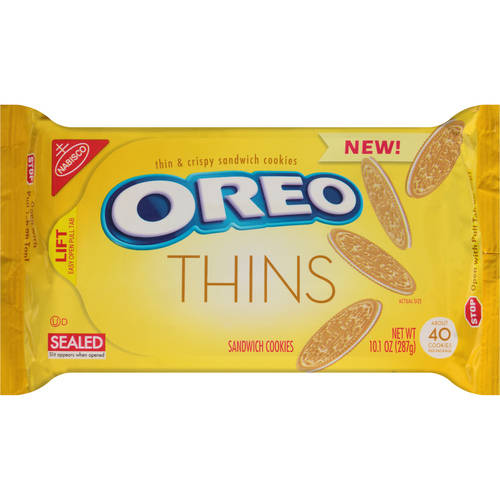 Nabisco Oreo Thins Golden Sandwich Cookies, 10.1 oz