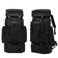80L Large Capacity Outdoor Military Tactical Backpack Rucksack Camping Hiking Backpack Sport Shoulder Bag for Outdoor - Black