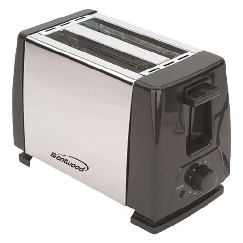 Brentwood TS-280S 2 Slice Stainless Steel Toaster- Black & Stainless
