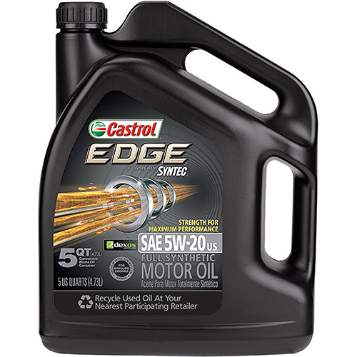 Castrol Edge Strength for Maximum Protection 5W-20 Motor Oil, 5 qt.