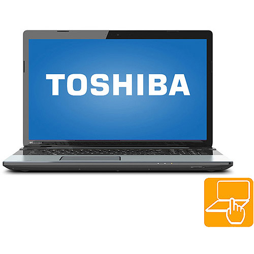 "Toshiba Ice Silver 17.3"" Satellite S75t-A7349 Laptop PC with Intel Core i7-4700MQ Processor, 8GB Memory, Touchscreen, 1TB Hard Drive and Windows 8"