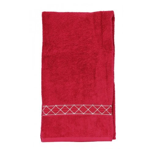 Sparkles Home Rhinestone X-Pattern Bath Towel