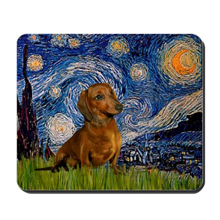 CafePress - Starry / Dachshund - Non-slip Rubber Mousepad, Gaming Mouse (Dachshund Mouse Pad)
