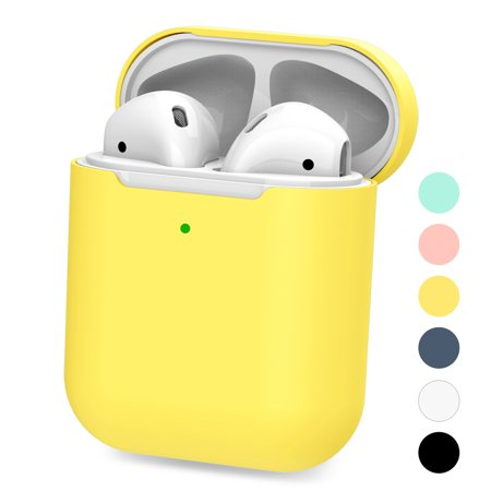Case for Airpods, Silicone Waterproof Protect Skin Cases for Apple AirPods Shockproof Cover Accessories Thanksgiving&Christmas&Birthday (Yellow) Special design for Apple Airpods. (NO Airpods! NO Airpods Charger!)Impact-resistant durable silicone rubber.Waterproof case for Apple AirPods is IP67 test.Protect AirPods from water during running ,skiing, fishing, camping.Slim form fitting minimalistic design fits for your AirPods.