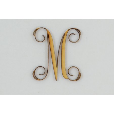 1 Pc, 10 Inch X 1/4 Inch Thick Wood Letters M In The Vine Font Great For Craft Project & Different Decor (Vine Halloween Letter)